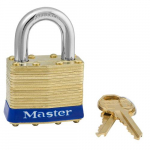 "1-3/4"" Wide Laminated Brass Pin Tumbler Padlock"
