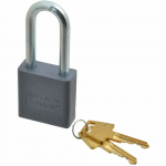 "No. A11 Solid Aluminum Padlock with 2"" Shackle"