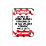 """Warning"" Label for Cable Lockout Devices"