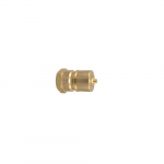 BS10 Brass Coupler Male Tip w/Nitrile Seal