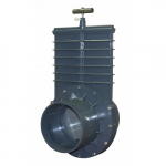 160mm PVC Gray Slip x Slip Ends Gate Valve