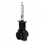 "2"" ABS Black FPT x FPT Ends Pneumatic Gate Valve"